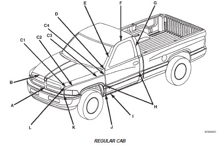 2008 Dodge Ram 1500 Body Parts Diagrams on electrical auto repair diagrams