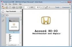 1993 Honda Accord - Service Manual - Repair Manual