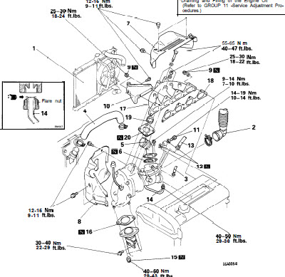 1999 Mitsubishi 2 4 Engine Diagram Service Manual