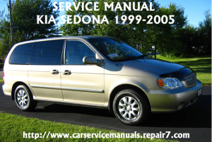 KIA Sedona 1995-1996-1997-1998-1999-2000 Workshop Service Repair Manual