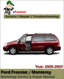 Ford Freestar 2005 2006 2007 Workshop Repair Manual - Car Service