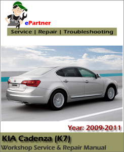 Kia Cadenza 2009 2010 2011 Service Factory Manual - car service
