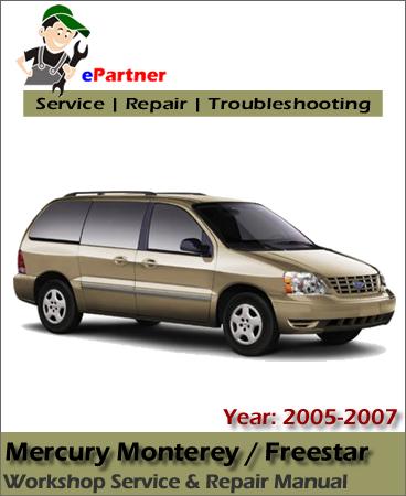 Mercury Monterey Service Manual 2005-2007